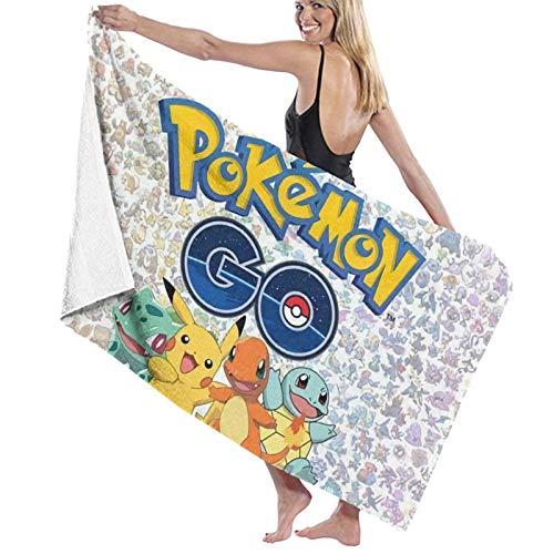 Poke-mon Go - Toalla de baño grande (secado rápido, unisex, para ducha/yoga/piscina/gimnasio/picnic, 81.5 x 127 cm)