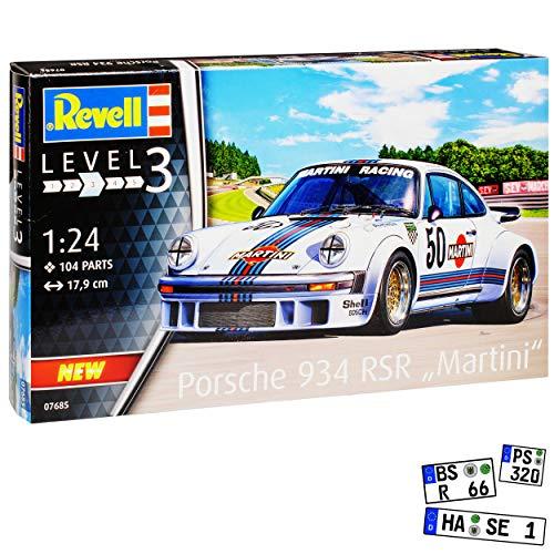 Porsche 911 930 G-Modell 934 RSR Martini Weiss 1974-1989 07685 Bausatz Kit 1/24 Revell Modell Auto