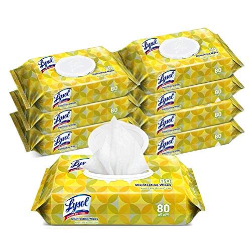 Bathroom and Kitchen Cleaning Wipes, Multi Purpose Scented Wipes (8 Pack)