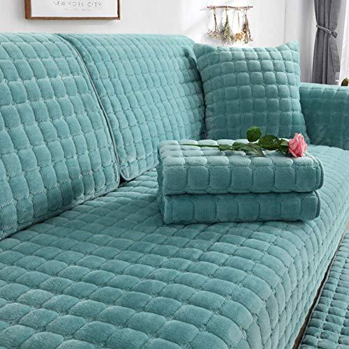 HXTSWGS Funda de sofá de Felpa de Invierno para Sala de Estar, Toalla de sofá, Estilo Europeo, Antideslizante, cálida, Funda de sofá, Fundas de cojín de Esquina para sofá-08_W90xL180cm
