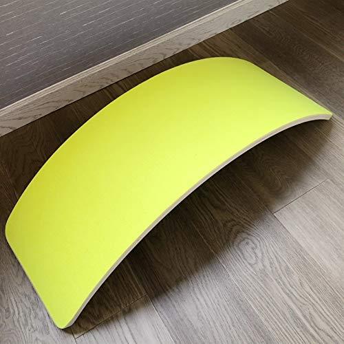 WDSZXH Set de Tableros Tablero Curvy Tablero Waldorf Carga 220kg Tabla de Equilibrio Curva Tabla de balanceo Madera Natural (Color : Yellow)
