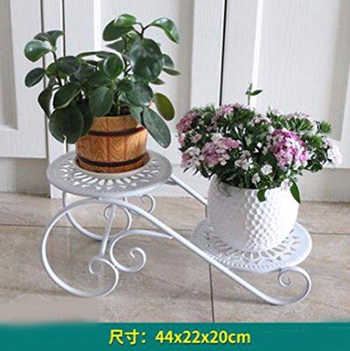 JRFBA Plateau De Fer Fleur Fleur Balcon Étage Salle Multicouches Bureautique Type Pot - À L'Intérieur Et À L'Extérieur De La Petite Fleur,C