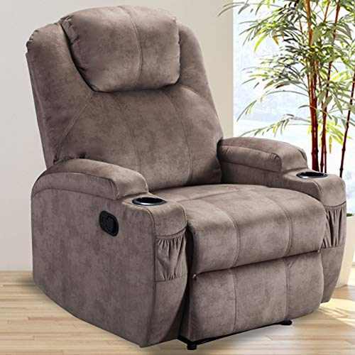 CANMOV Recliner Chair with 2 Cup Holders, Ergonomic Design Living Room...