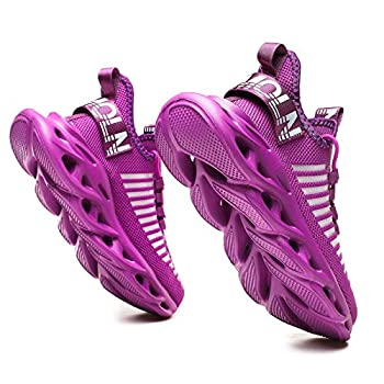 GSLMOLN Walking Shoes for Men Outdoor Comfortable Lightweight Colorful Slip on Casual Easy Walk Minimalist Gym Sport Fitness Athletic Running Sneakers Purple 38