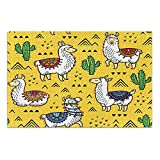 Linomo Rompecabezas de 500 piezas para adultos y niños, lindo Lama Cactus Alpaca Jigsaw Puzzle educativo juegos decoración del hogar