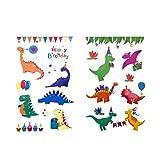 Oblique Unique® Kinder Dino Tattoos 38 Stück Farbenfroh Temporär Dinosaurier Tattoo zum Spielen...