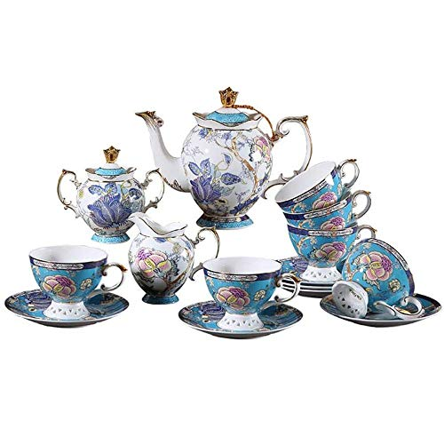 Buy Bargain RXM Bone China Tea Sets Household Coffee Cup Chinese Style Afternoon Tea Set Luxury Dini...