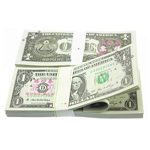 100PCS American Prop Dollar Copy Money $ 1-100 Spielgeld Movie Game Realistische Spielgeld für Kinder, Studenten, TV/Film/Video/Party/Spiele/Streiche