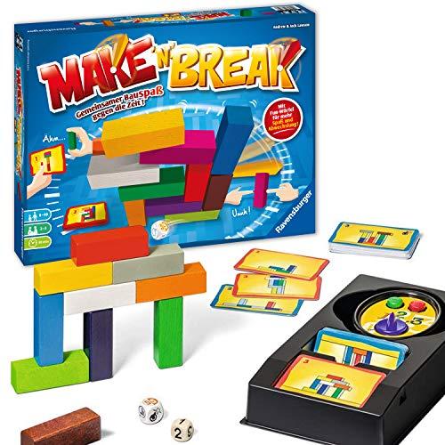 Ravensburger 26750 Make 'n' Break - Gesellschaftsspiel für die ganze Familie mit Bausteinen, Spiel für Erwachsene und Kinder ab 7 Jahren, für 2-5 Spieler - mit 160 neuen Aufgaben