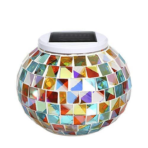 Lixada kleurverandering zonne-aangedreven glazen bol tuinlicht buiten decoratieve tafellampen