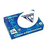 Clairefontaine Clairalfa - Resma de papel/cartulina, 250 hojas, A4, 21 x 29.7 cm, color ultra blanco