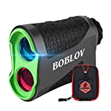 BOBLOV 650Yards Slope Golf Rangefinder Laser Golf Distance Scope with Vibration Fast Lock 6X Magnification Golf Distance Rangefinder with Case Slope/Non Slope/Speed/Continuous Mode