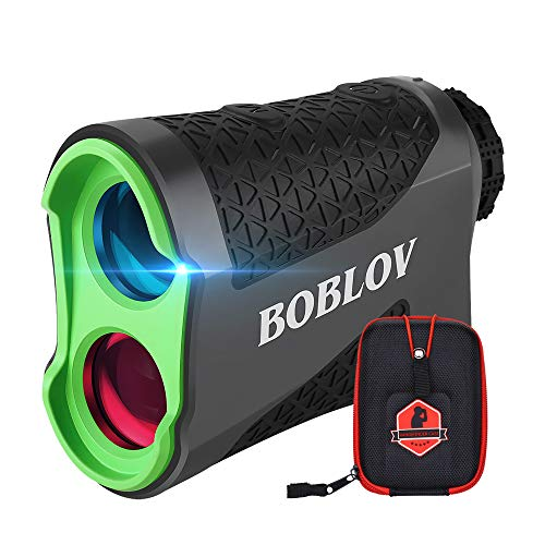 BOBLOV 650Yards Slope Golf Rangefinder Laser Gold Distance Scope with Vibration Fast Lock Continuous Scan Function 6X Magnification K600 Series(K600AG with Slope)