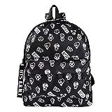 AMA-StarUK36 Kpop BTS Zaino Love Yourself Map of The Soul 7 Schoolbag Shoulder Canvas Bag Cartoon Print Backpack SUGA JIN JIMIN V Gift