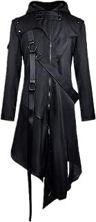 Steampunk Trench - Giacca da uomo stile gotico vintage vittoriano irregolare smoking Halloween costume cappotto medievale ...