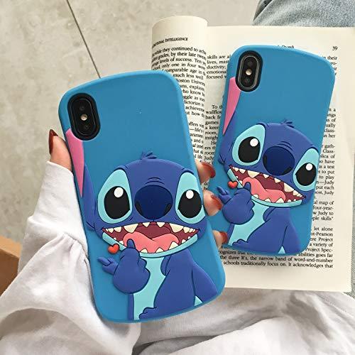 Custodia per iPhone 7/iPhone 8, in morbido silicone, sottile, con motivo a pois, per bambini, ragazzi e ragazze (sottile Stitch, iPhone 7/iPhone 8)