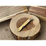 肥後守 肥後守ナイフ 青紙割込 真鍮鞘 中 アウトドア 折り畳みナイフ DIY 木工