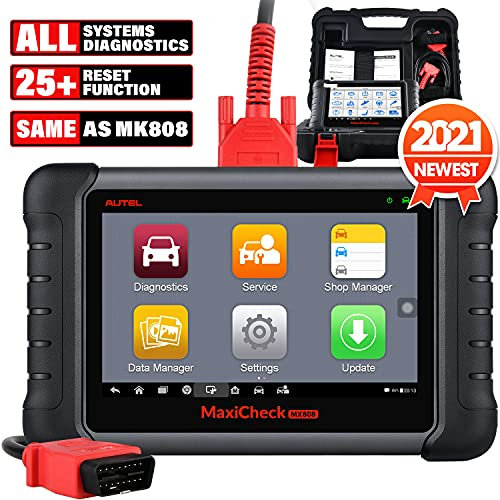Autel Scanner MaxiCheck MX808 [Same as MK808] OBD2 Car Diagnostic Scanner, 2021 Newest with All System Diagnosis, 25+ Maintenance Functions, Auto VIN, ABS Bleed, Oil Reset, EPB, DPF, BMS for US Market