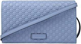 Gucci Light Blue Leather Crossbody Wallet Bag 466507 4503