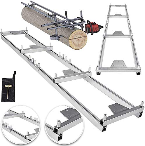 VBENLEM Rail Mill Guide System 9 FT Chainsaw Mill Rail Guide with 4 Wood Fixing Plate Rail Mill Guide Used in Combination with The Saw Mill (9FT-RMG)