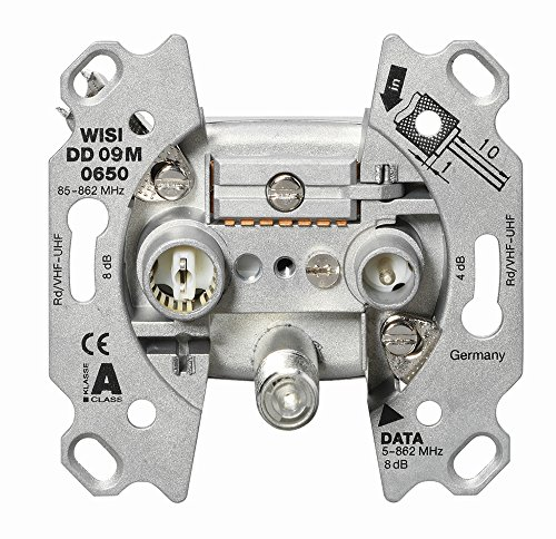 """WISI 18388 """"DD 09 M 0650"""" 3-Loch Multimedia-Enddose, 10 dB Metall"""