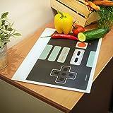 getDigital 11651Controller Nerd Tagliere da Cucina Brett, Vetro, Multicolore, 40x 30x 0,4cm