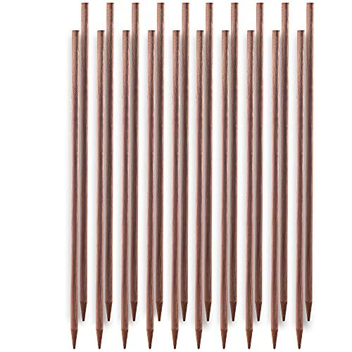 KADAX Rankhilfe aus Holz, imprägnierte Pflanzstäbe, Kletterpflanzen-Stab, wetterfeste Rankstange, Blumenstab, Rankgitter, Holzpflöcke, Pfähle (20, 28mm x 120cm)