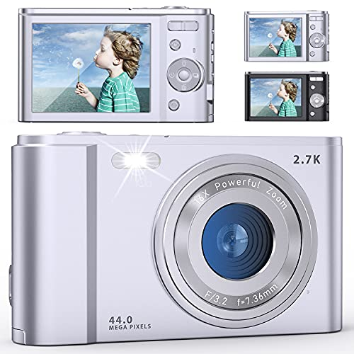 FamBrow デジタルカメラ デジカメ 2.7k 4400万画素 HD1520P録画 2.88インチIPS画面 16倍ズーム ウェブカメラとして利用 動き検知 スローモーション 手ぶれ補正 三連写など機能 最大128gbのSDカードにサポート 予備バッテリ*2 日本語取扱説明書付き 子供や初心者や老齢者などへ最適ギフト