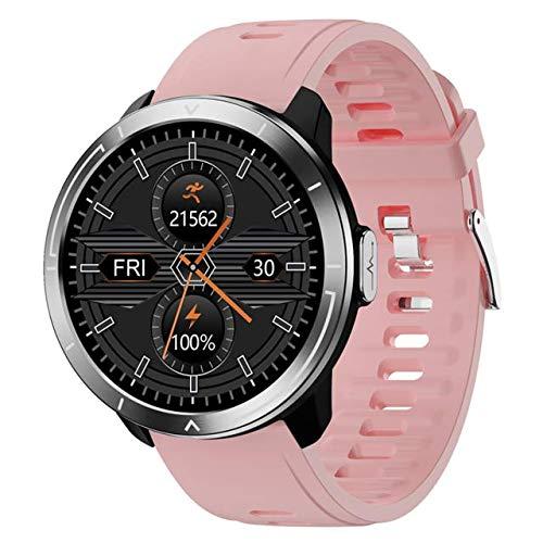 LTLJX Smartwatch Hombre, Reloj Inteligente con 1.3'' Pantalla Tátil Completa, Reloj Deportivo Impermeable IP67, Reloj Digital Fitness Tracker para Android iOS Huawei Samsung,Rosado