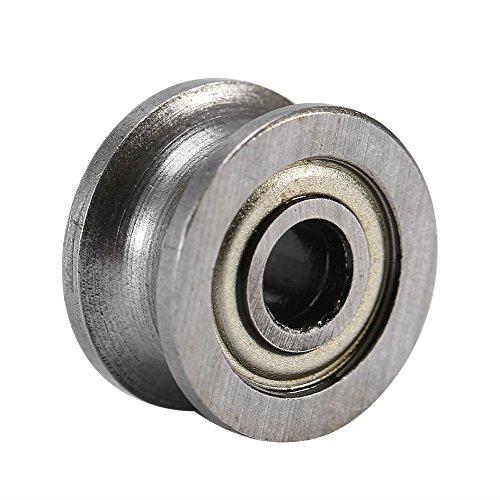 10 Stücke U624ZZ Miniatur Kugellager Stahl U-Nut Doppel Schild 4x13x7mm für Führungsrolle Schiene Track Liner Motion System