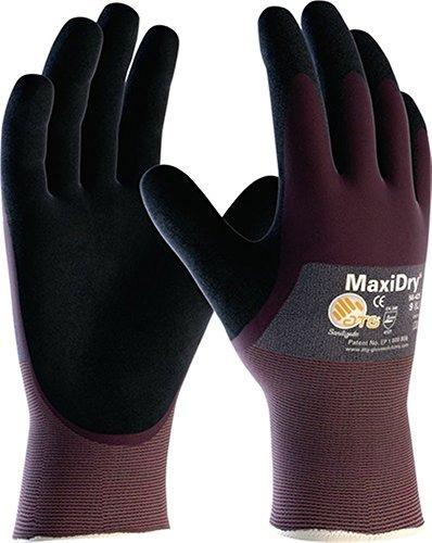 Handschuhe MaxiDry 56-425 Gr.10 lila/schwarz Nitril EN 388 Kat.II, 12 Paar