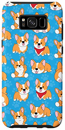 Galaxy S8+ Corgi Phone Case Gifts Pattern Baby Dog Paw Orange Cute Case