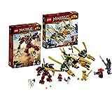 LEGO 70665 - 70666 Ninjago - Robot de Samurai, dragón Dorado