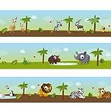 Wandkings Bordüre 'Kleine Zootiere' Länge: 450 cm, selbstklebend, für's Kinderzimmer