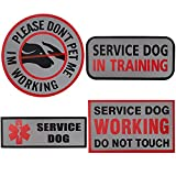 Service Dog Patches for Vest,Don't PET ME I'm...