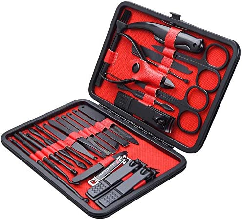 26 PCS Premium Manicure Set AULLUA Nail Clippers Professional Grooming Gift Kit Pedicure Kit product image