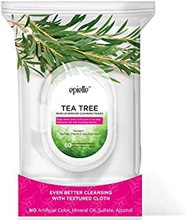 Epielle New Tea Tree Facial Cleansing Facial Tissues Wipes Towelettes - 60ct (Sheets) per pack