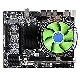 X58 Placa Base,8GB LGA 1366 CPU Placa Madre,Nic RTL8105E 100M Integrado,6 Núcleos Conjunto de Placa Base de PC Radiador,Soporte DDR3 1066/1333/1600 MHz,6 Canales Tarjeta de Sonido Integrada