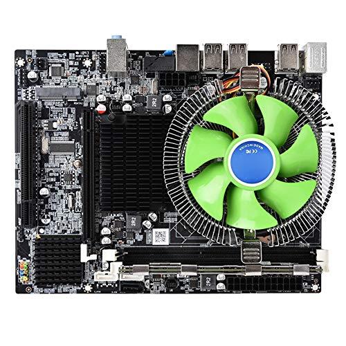 Bewinner X58 Placa Base,8GB LGA 1366 CPU Placa Madre,Nic RTL8105E 100M Integrado,6 Núcleos Conjunto de Placa Base de PC Radiador,Soporte DDR3 1066/1333/1600 MHz,6...