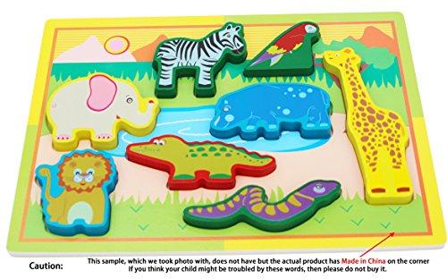 TOWO Rompecabezas Animales Madera - 8 Bloques Colores