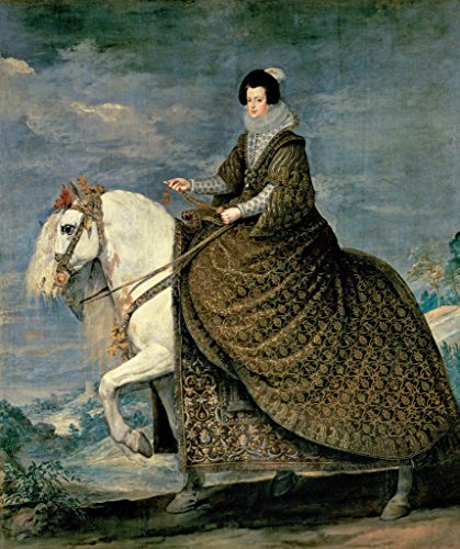 Kunst für Alle Impresión artística/Póster: Diego Rodriguez de Silva y Velazquez Isabella of Bourbon Velázquez - Impresión, Foto, póster artístico, 85x100 cm