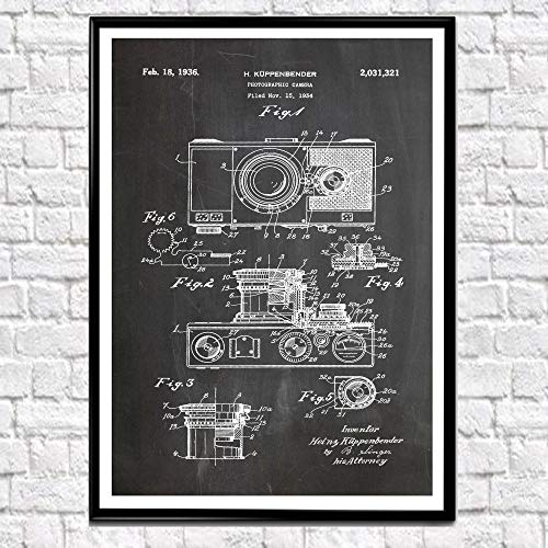 Camera Patent Poster 1934 Fotografische Grote Camera Print Camera Muur Kunst Fotograaf Gift Fotograaf Art Vintage Camera Gift WB122