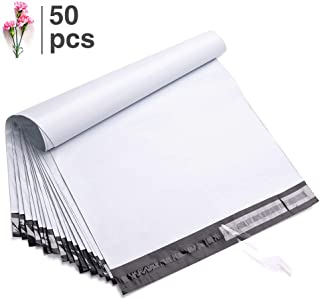Fu Global 50pcs 19x24 Inches Poly Mailers Shipping Envelops Boutique Custom Bags Enhanced Durability Multipurpose Envelopes(White)
