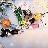 6 bolígrafos de madera con diseño de cabeza de animal, tinta azul para estudiantes de premio, niños, 6 unidades