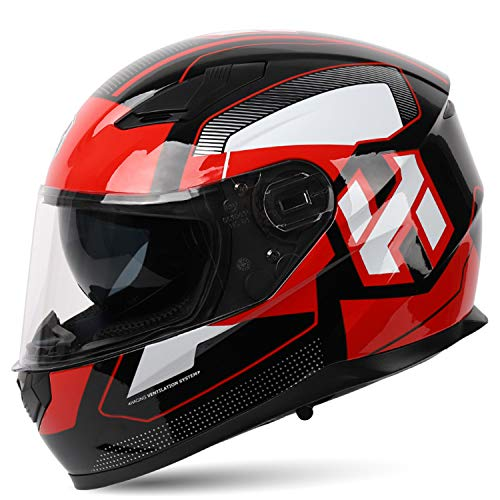 Bluetooth Motorcycle Helmet,DOT/ECE Approved Modular Full Face Helmet Lightweight Ventilation Easy to Clean Voice Navigation Call Motorbike Helmet,1,XL61to62cm