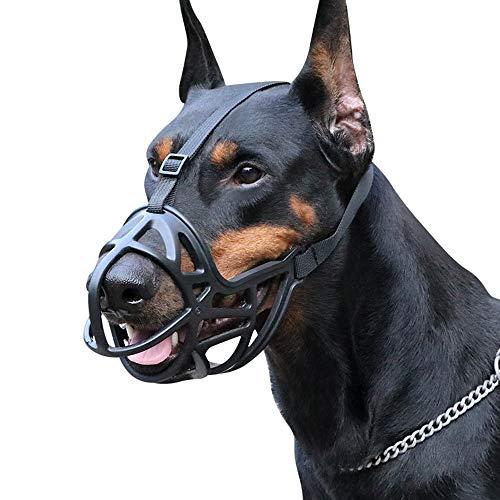 Z-PET Kunststoff-Maulkorb-Mundschutz For Hunde Verstellbarer Und Bequemer Sicherer Sitz Verhindert Das Beißen, Kauen Und Bellen Der Kopfschnauze (Size : L)