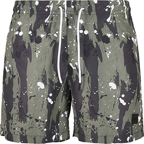 Urban Classics PatternSwim Shorts Baador para Hombre, White Dot Camo AOP, X-Large