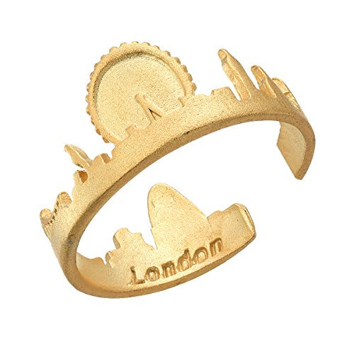 CY Supplies London Skyline City Ring - 925 Sterling Silver Plated with...