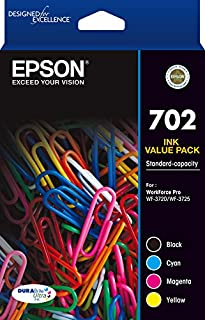Epson 702 4X Colour Ink Pack - WF-3720/3725