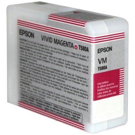Epson C13T580A00 - - Vivid magenta - original - cartucho de tinta - para Stylus Pro 3880, Pro 3880 meroul edición, Pro 3880 firma digna edición